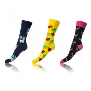 Barevné ponožky 2+1 ks CRAZY SOCKS - BELLINDA - zvířata 43-46