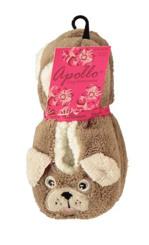 Papuče baleríny RiSocks Apollo art.33391 Cute Pet 3D Animals béžová 31-33
