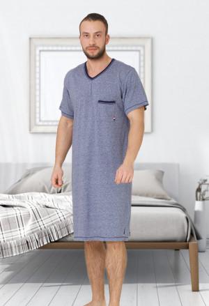 Pánská noční košile M-Max Baltazar 609 kr/r M-2XL tmavě modrá