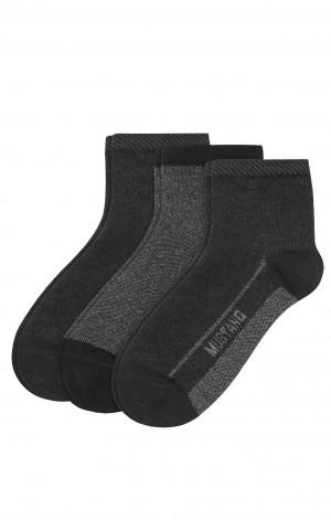 Pánské ponožky Mustang 32012 A'3 černá 35-38