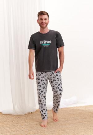 Pánské pyžamo 2199 JEREMI Z*20 šedá