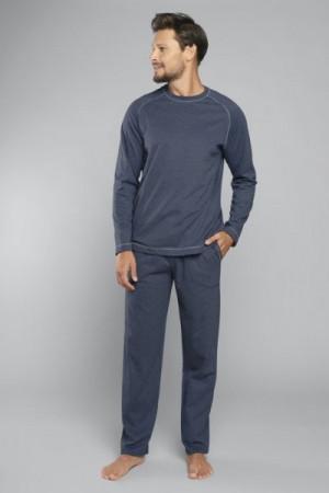 Italian Fashion Ekspert dl.r. dl.k. Pánské pyžamo M tmavě modrá