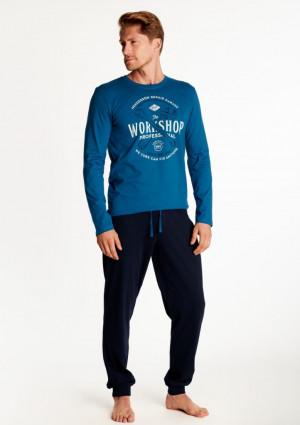 Pánské pyžamo Henderson 38379 L Modrá