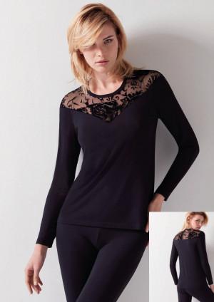 Dámské tričko Cotonella AD833 L Černá