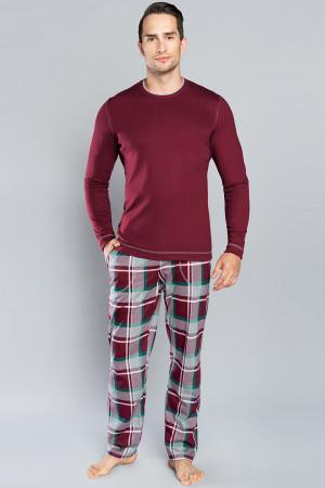 Pánské pyžamo Italian Fashion Walenty bordó xl