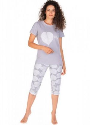 Lama L-1386 PY Dámské pyžamo S šedá