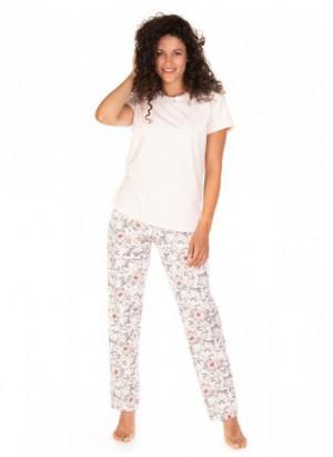 Lama L-1367 PY Dámské pyžamo S broskvová-ecru