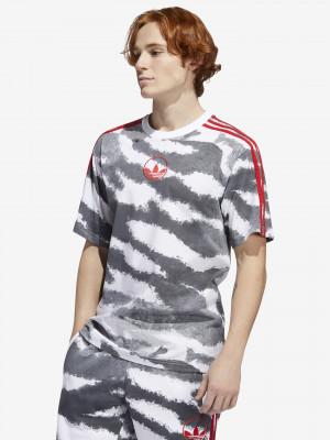 Zebra Allover Print Triko adidas Originals Šedá