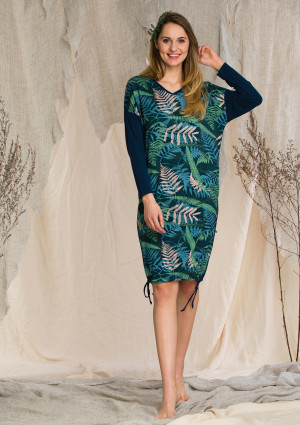 Dámské šaty LHD 901 B20 modrá/zelená