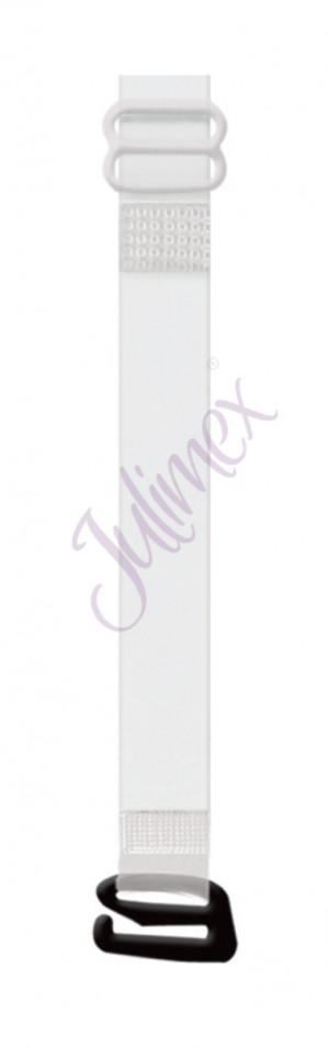 Silikonová ramínka s kovovými háčky RT 04   10 mm bílá uni velikost