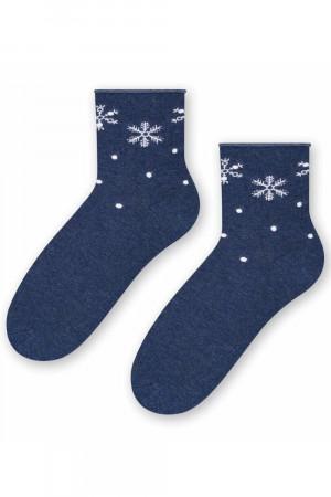 Dámské vánoční ponožky Steven 099-662 džínová 35-37