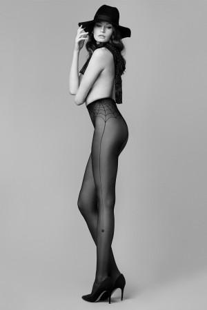 Halloweenské punčochové kalhoty Fiore Spider Woman 30 den black 2-s