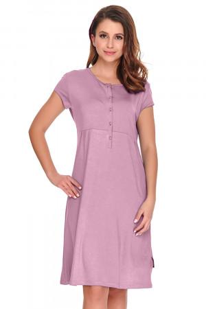 Těhotenská noční košile Dn-nightwear TW.9941 plameňák s