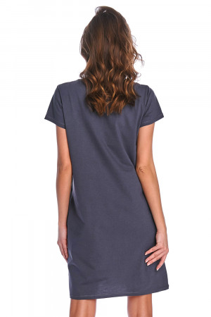 Těhotenská noční košile Dn-nightwear TCB.9992 graphite l