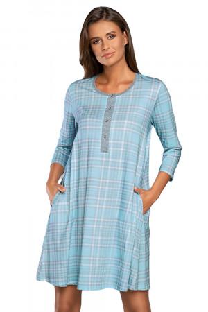 Těhotenská noční košile Italian Fashion Dalaja r.3/4 modrá s