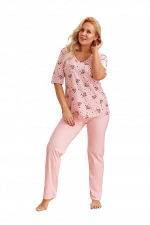 Dámské pyžamo  2465 Lidia pink růžová