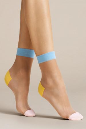 Dámské ponožky Fiore Tricolore 20 Den G1077 pudrová uni