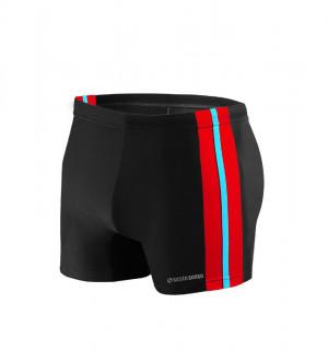 Pánské plavky boxerky 382 - Sesto Senso černo-červená