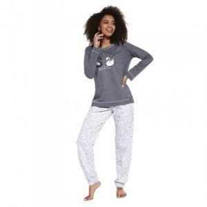 Cornette 381/257 Swan Dámské pyžamo S šedá