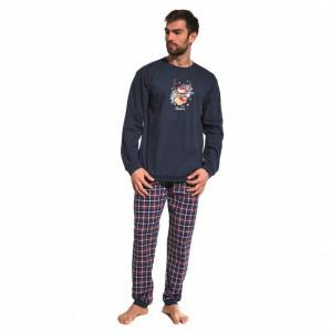 Cornette 115/156 Reindeer Pánské pyžamo XL tmavě modrá