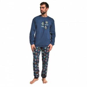 Cornette 115/158 Cube Master Pánské pyžamo M tmavě modrá