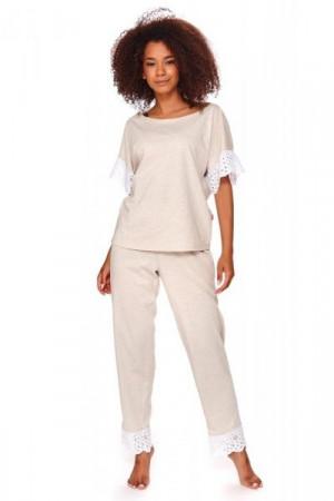 Dn-nightwear PM.4104 Dámské pyžamo S beige melange