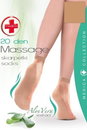 Dámské silonkové ponožky Gabriella Medica 20 Massage code 623 melisa uni