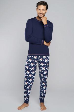 Pánské pyžamo Italian Fashion Balu tm.modrá/potisk l
