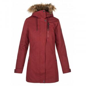 Dámský zimní kabát Peru-w tmavě červená