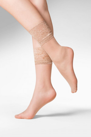 Dámské silonkové ponožky Gabriella Kala code 690 béžová uni