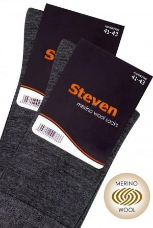 Pánské ponožky Wool art.130 - Steven černá 41/43