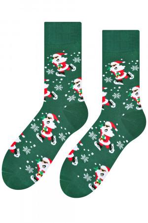 Pánské ponožky vánoční 136-25 - Steven tmavě zelená 44-46
