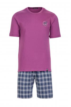 Pánské pohodlné pyžamo purple royal m