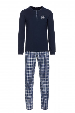 Pánské pohodlné pyžamo blue m