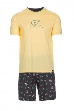 Pánské pohodlné pyžamo yellow banana m