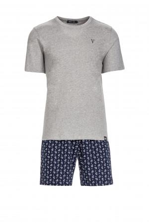 Pánské pyžamo gray melange m