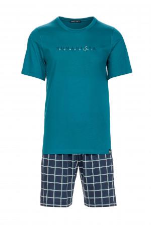 Pánské pohodlné pyžamo petrol m