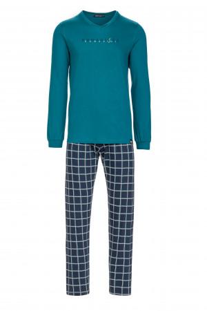 Pánské pohodlné pyžamo petrol xxl