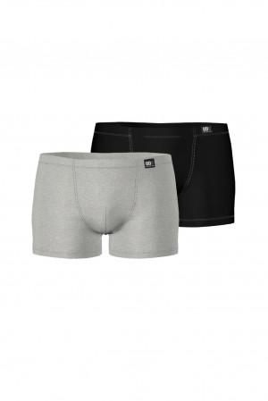 Pánské boxerky - set 2 ks gray melange l