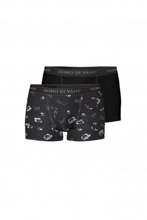 Pánské boxerky - set 2 ks dark gray xl