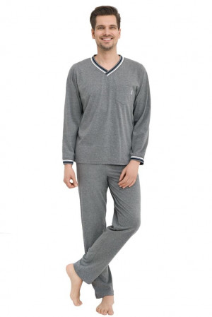 Pánské pyžamo Santiago šedé šedá