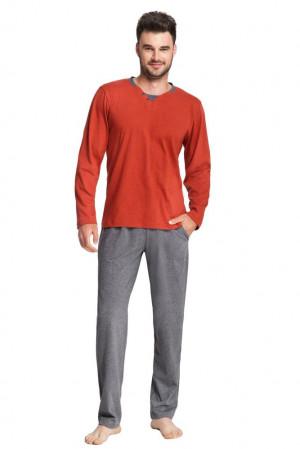 Pánské pyžamo Thomas oranžové oranžová
