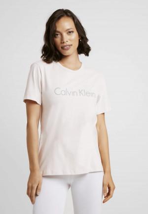 Dámský pyžamový top QS6105E-2NT růžová - Calvin Klein růžová