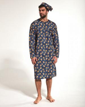 Cornette 110/04 653901 Noční košilka plus size 4XL tmavě modrá