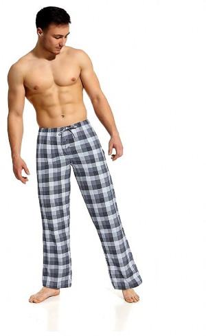 Pánské pyžamové kalhoty 691 581305 - Cornette tmavě modrá s bílou