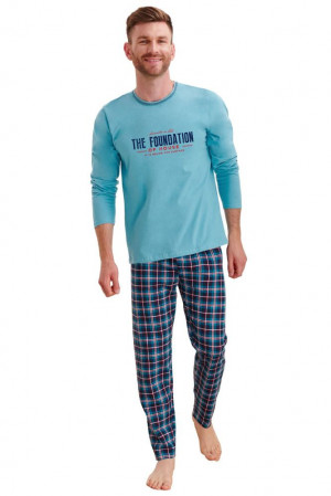 Pánské pyžamo Leo modré modrá