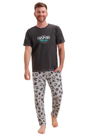 Pánské pyžamo Jeremy šedé šedá