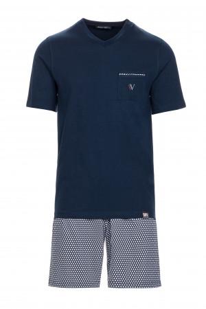 Pánské pyžamo 13638 - Vamp modrá oxford