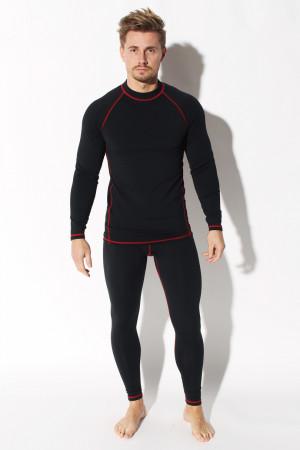 Pánské termoaktivní spodní prádlo komplrt - Edvard ORLOVSKI černo-červená