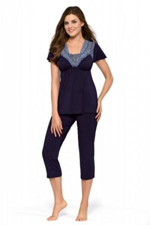Babella Carmelita tmavě modré Dámské pyžamo L tmavě modrá